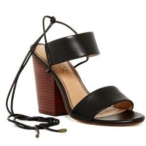 Anthro | Splendid Kenya ankle tie chunky heel